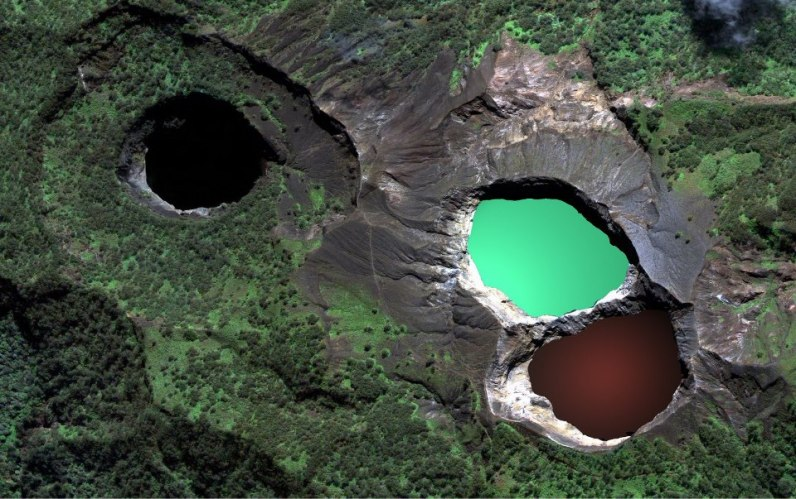 Multi-colored crater lakes of Kelimutu